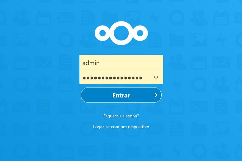 Compartilhando arquivos ou diretórios no Nextcloud